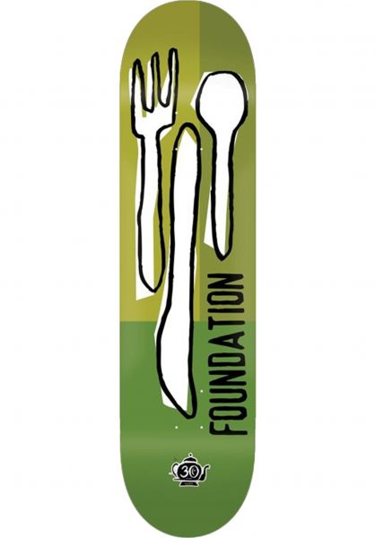 Foundation Skateboard Decks Forks Reissue 30 Years green vorderansicht 0264036
