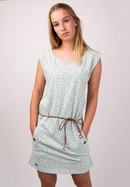 Ragwear Kleider Tag Dots lightgreen vorderansicht 0801419