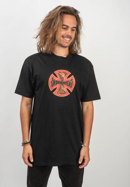 Independent T-Shirts Coil black vorderansicht 0320444