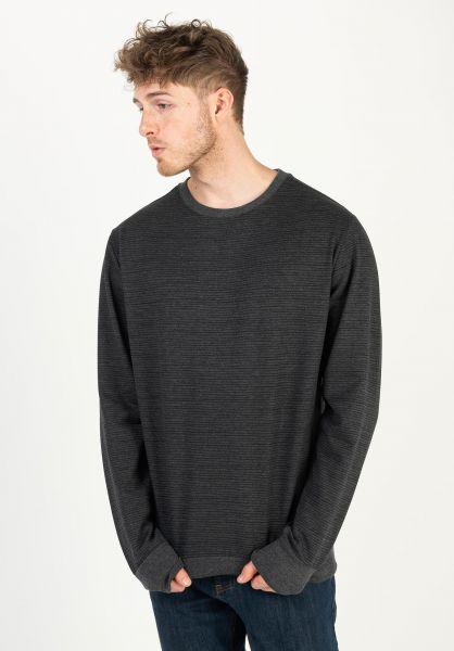 Mazine Sweatshirts und Pullover Seaton Striped blackmelange vorderansicht 0422984