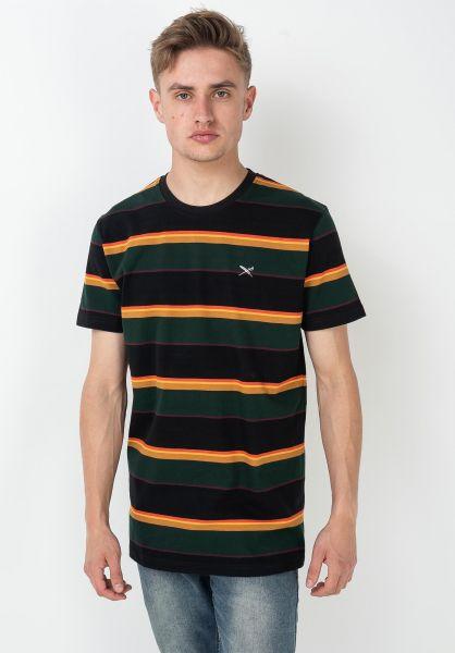 iriedaily T-Shirts Rustico Stripe black-yellow vorderansicht 0322365