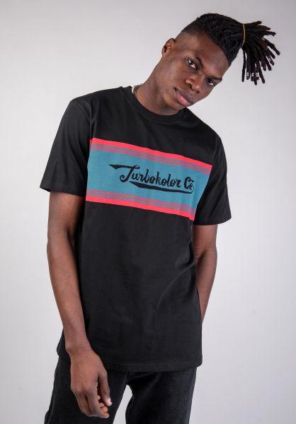 Turbokolor T-Shirts Edging black vorderansicht 0320186