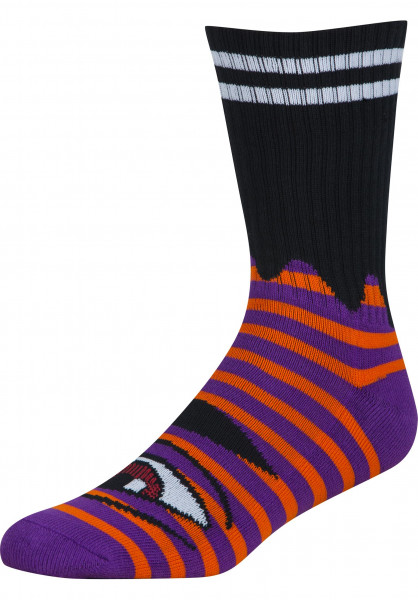 Toy-Machine Socken Sect Eye Stripe orange-purple Vorderansicht
