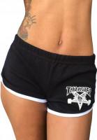 Thrasher-Chinos-und-Sweatshorts-Skategoat-Night-Shorts-black-white-Vorderansicht