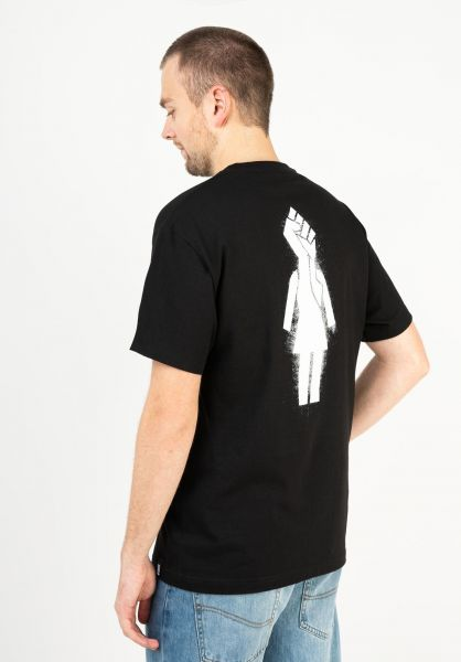 Girl T-Shirts Power black vorderansicht 0323483
