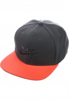 Nike SB Caps SB Icon Snapback anthracite-red Vorderansicht