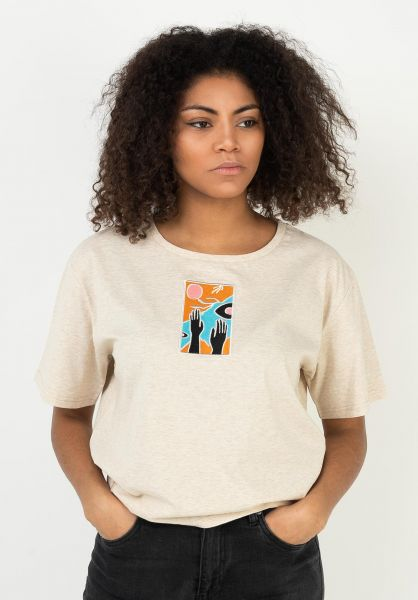 TITUS T-Shirts Tista crememottled vorderansicht 0322777