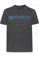 Rules T-Shirts Basic greymottled-petrol Vorderansicht