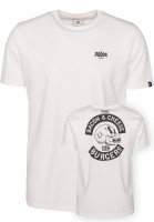 The Dudes T-Shirts Bacon Cheese Burgers offwhite Vorderansicht