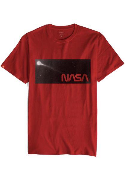 Habitat T-Shirts x NASA Stardust burgundy vorderansicht 0320572