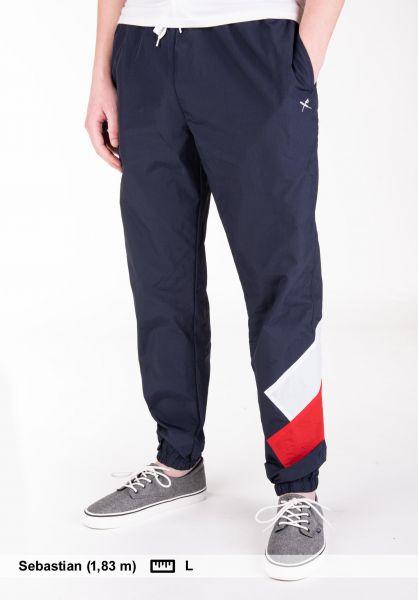 iriedaily Jogginghosen Get Down Track Pant navy-red vorderansicht 0680204