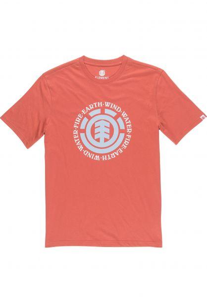 Element T-Shirts Seal Kids etruscanred vorderansicht 0397954