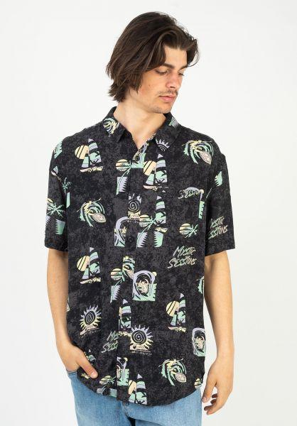 Quiksilver Hemden kurzarm Island Pulse black-islandpulse vorderansicht 0401044