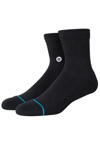 Stance Socken Icon Quarter black vorderansicht 0632175