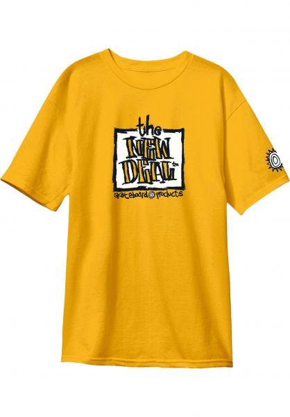 New-Deal T-Shirts Original Napkin Logo gold-white vorderansicht 0320471