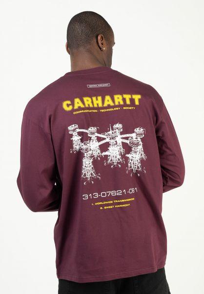 Carhartt WIP Longsleeves Airwaves shiraz vorderansicht 0384005