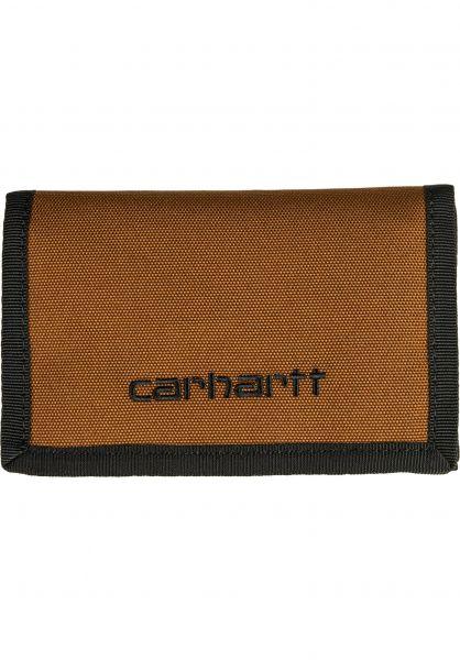 Carhartt WIP Portemonnaie Payton Wallet tawny-black vorderansicht 0781005