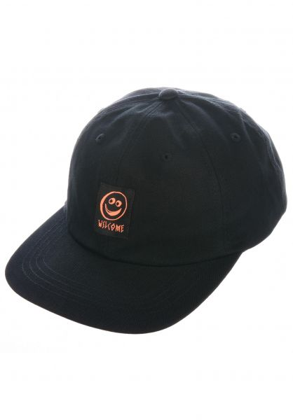 Welcome Caps Smiley Unstructured black vorderansicht 0566438