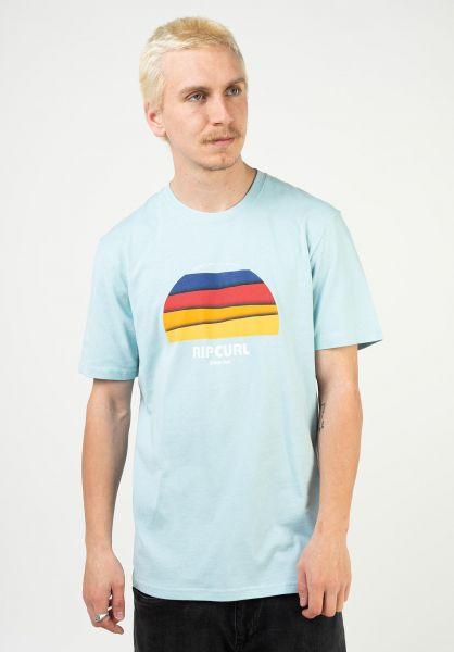 Rip Curl T-Shirts Surf Revival Hey Muma lightblue vorderansicht 0323559