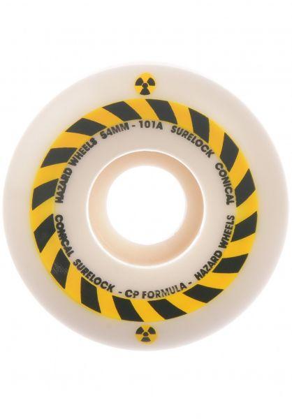 Hazard Wheels Rollen Hazard Sign Conical Surelock 101A white vorderansicht 0134990