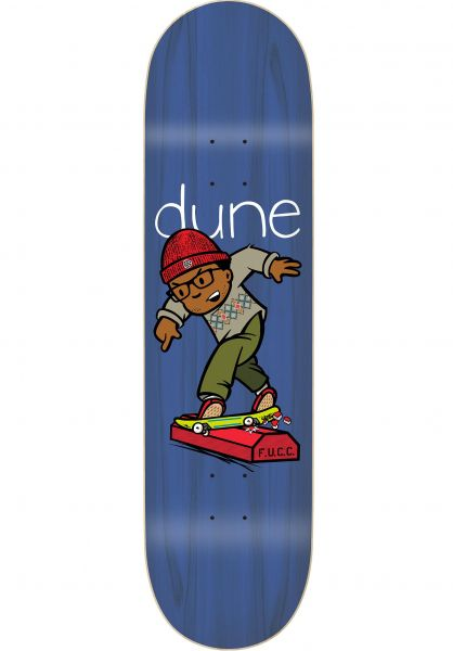 "The Folklore Project Skateboard Decks Chris ""Dune"" Pastras Curb Crusher Shape natural vorderansicht 0262562"