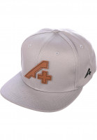 Artha-Caps-Leather-Logo-Strapback-lightgrey-Vorderansicht