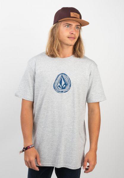 Volcom T-Shirts Sub Stone heathergrey vorderansicht 0320361
