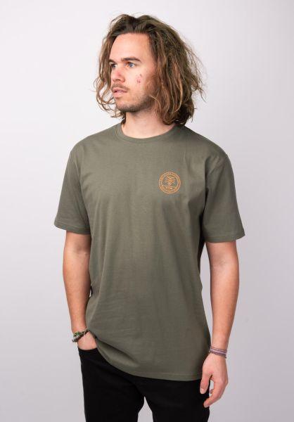 TITUS T-Shirts Badges olive vorderansicht 0398379