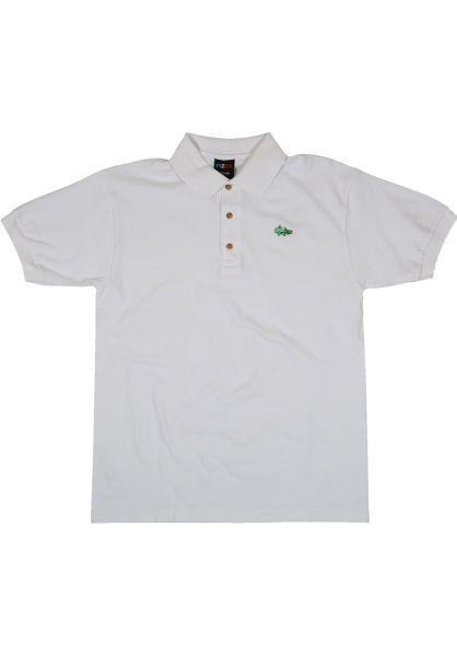 Pizza Skateboards Polo-Shirts Lapizza white vorderansicht 0138412