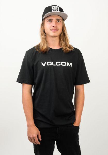 Volcom T-Shirts Crisp Euro black vorderansicht 0398810