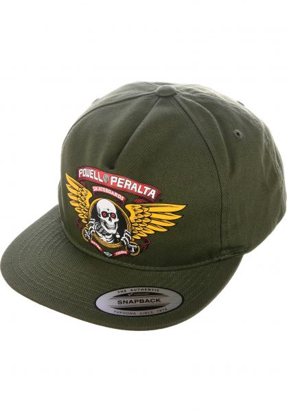 7556863f42f83a Powell-Peralta Caps Winged Ripper military-green vorderansicht 0564929