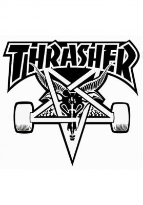 Thrasher Skategoat Board Sticker