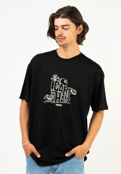 Carhartt WIP T-Shirts Stoneage black-white vorderansicht 0324393