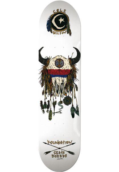 Foundation Skateboard Decks Wilson Buffalo white vorderansicht 0262503