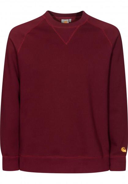 Carhartt WIP Sweatshirts und Pullover Chase cranberry Vorderansicht