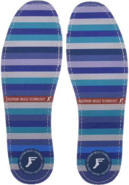 Footprint Insoles Einlegesohlen Kingfoam Flat Stripes purple-blue Vorderansicht