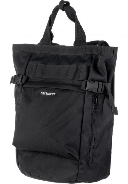 Carhartt WIP Rucksäcke Payton Carrier black-black-white vorderansicht 0880926