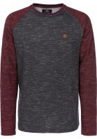 TITUS Sweatshirts und Pullover Thorben greymottled-darkredmottled Vorderansicht