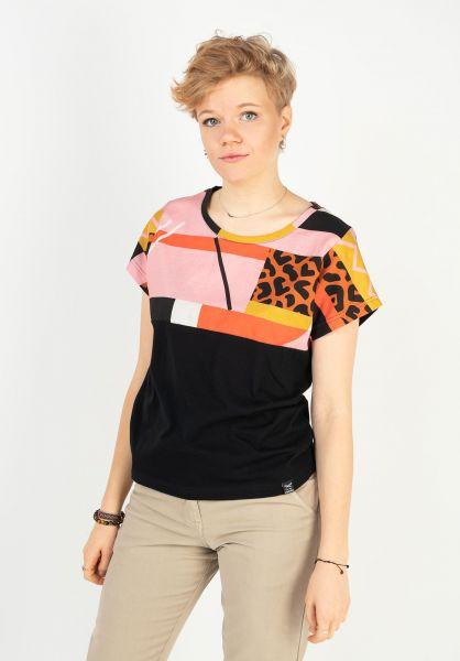 iriedaily T-Shirts Funky Block 2 leobrown vorderansicht 0322907