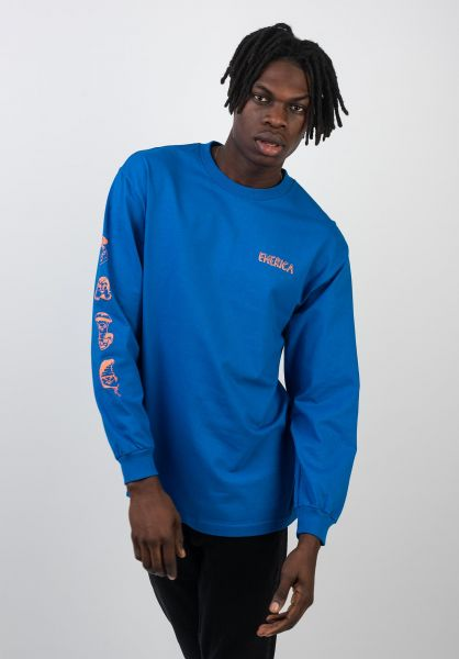 Emerica Longsleeves Faces royal vorderansicht 0383422