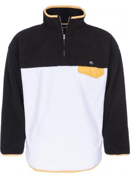 Magenta Sweatshirts und Pullover Fleece Tricolor darkheathergrey-paleyellow-white vorderansicht 0422536