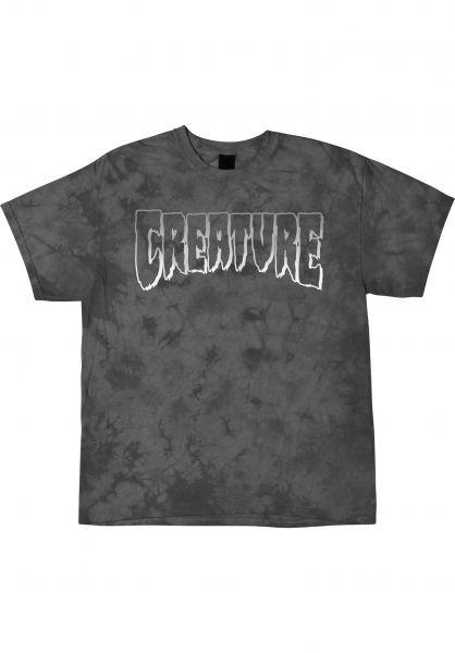 Creature T-Shirts Logo Outline crystal-wash vorderansicht 0399126