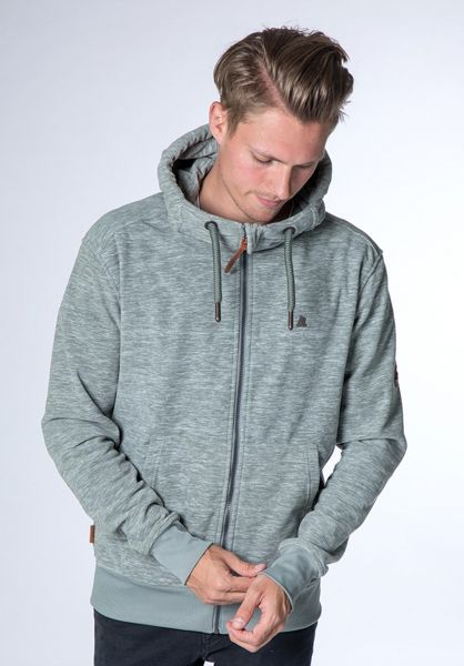 alife and kickin Zip-Hoodies Freddy Polarfleece slategrey vorderansicht 0454823