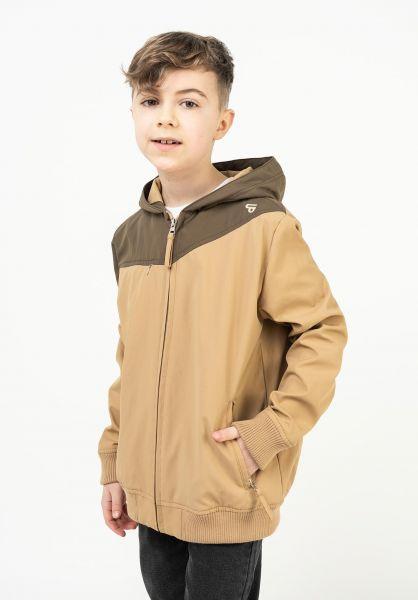 TITUS Übergangsjacken RIC-Summer-Kids beige-brown vorderansicht 0503192