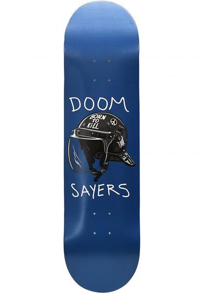 Doomsayers Skateboard Decks Riot Helmet blue vorderansicht 0266414