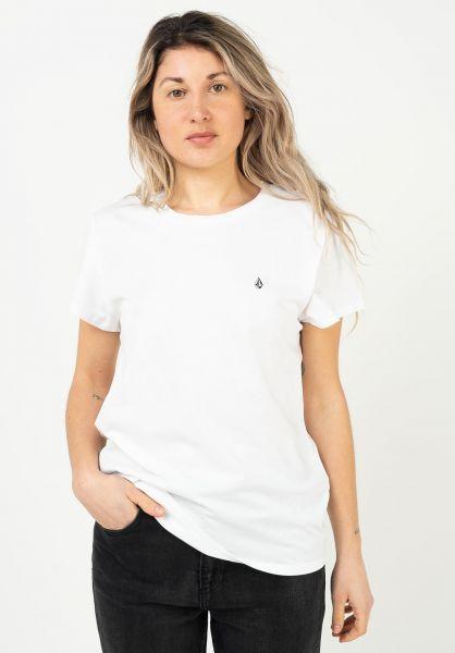 Volcom T-Shirts Stone Blanks Wmn white vorderansicht 0322927