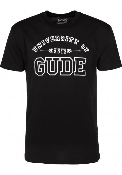 GUDE T-Shirts University black Vorderansicht