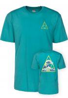 HUF T-Shirts High Tide Triangle tropicalgreen Vorderansicht