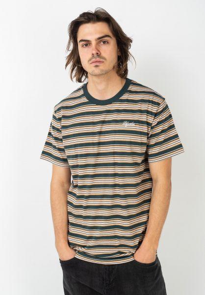 Rhythm T-Shirts Everyday Stripe teal vorderansicht 0322039
