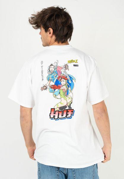 HUF T-Shirts x Streetfighter Chun-Li & Cammy white vorderansicht 0323576